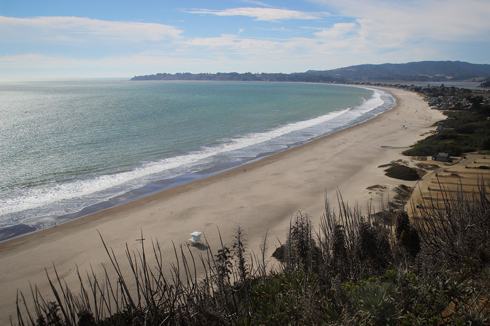 One last look at Stinson Beach's expansive shoreline.