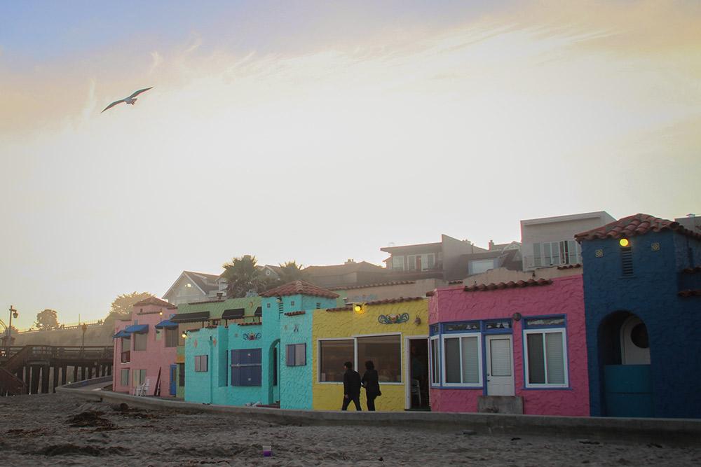 Capitola's colourful beachfront, where the Slow Coast ends in Santa Cruz.
