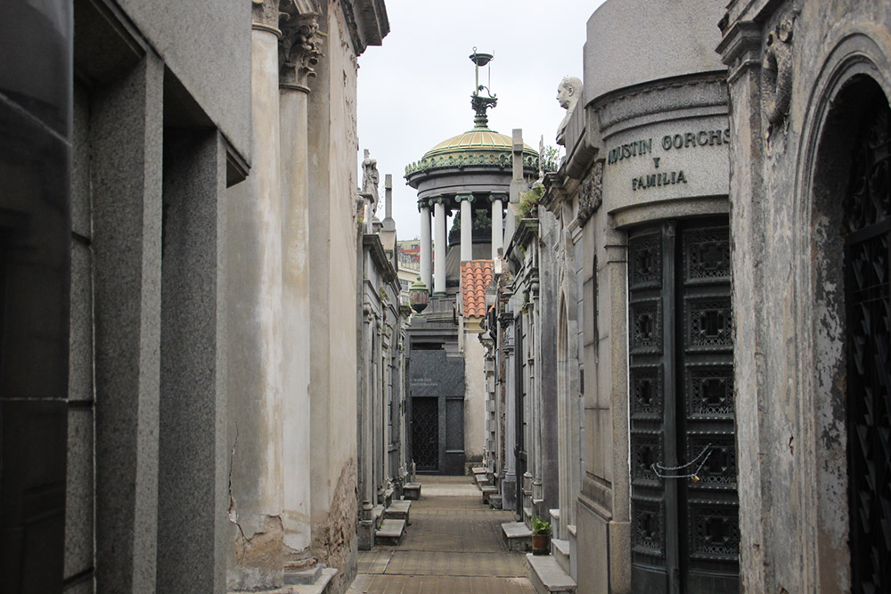 One of the elegant alleyways in Recoleta Cemetery.