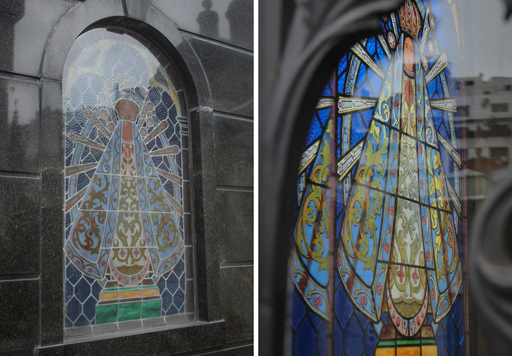 This window of Mary was our favourite discovery from the day.
