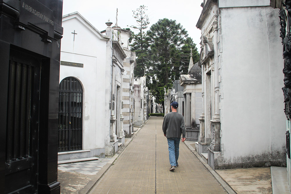 Exploring Recoleta Cemetery for the first time with my uncle.
