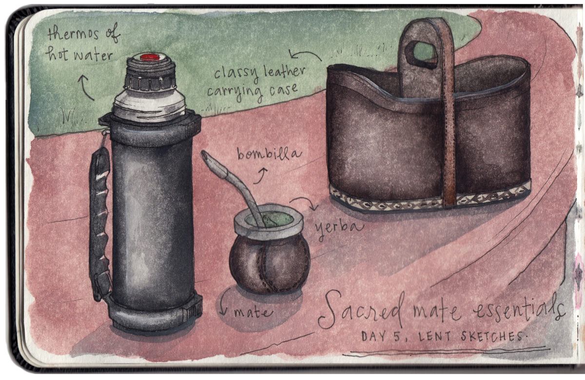 A few essentials for the Uruguayan tradition of yerba mate tea.