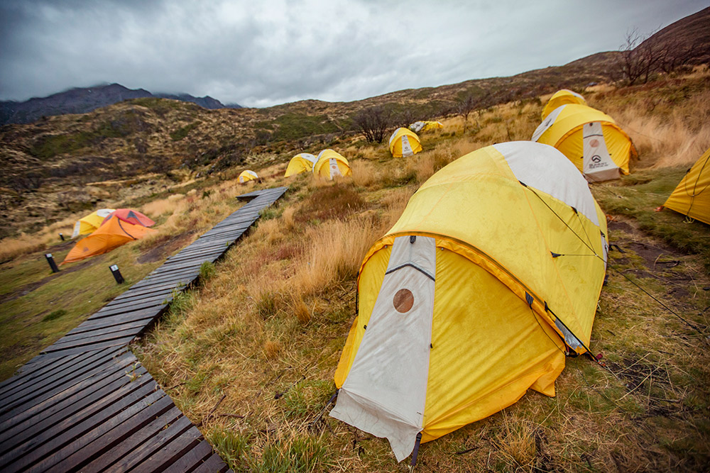 Take steps to keep the inside of your tent dry.