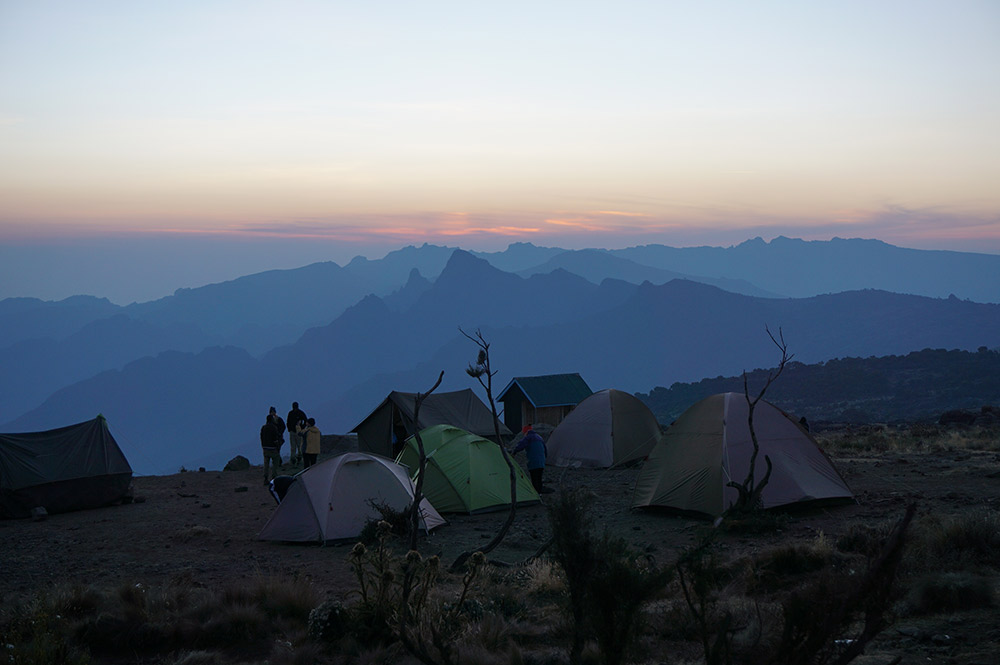 Make sure you know which tent's yours before sun sets. It'll be much trickier to find in the dark.