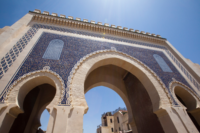 From the famous Blue Gate of Fes to the hammam interiors, beautiful mosaic tiles surround you
