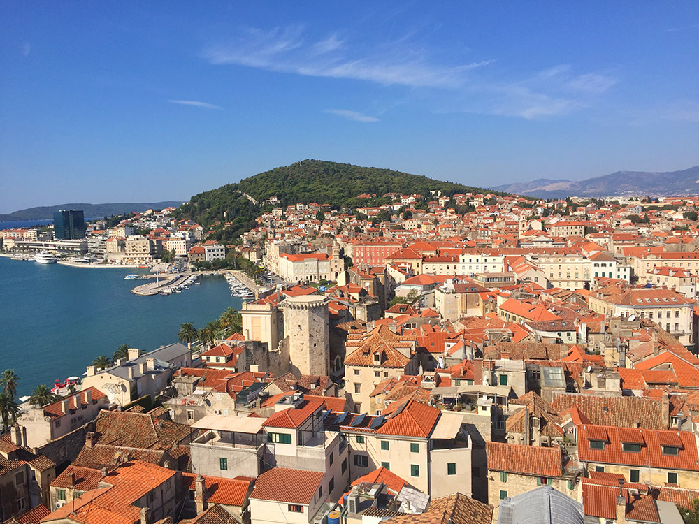 Spotted: Diocletian's palace from the top of the Bell Tower in Split.