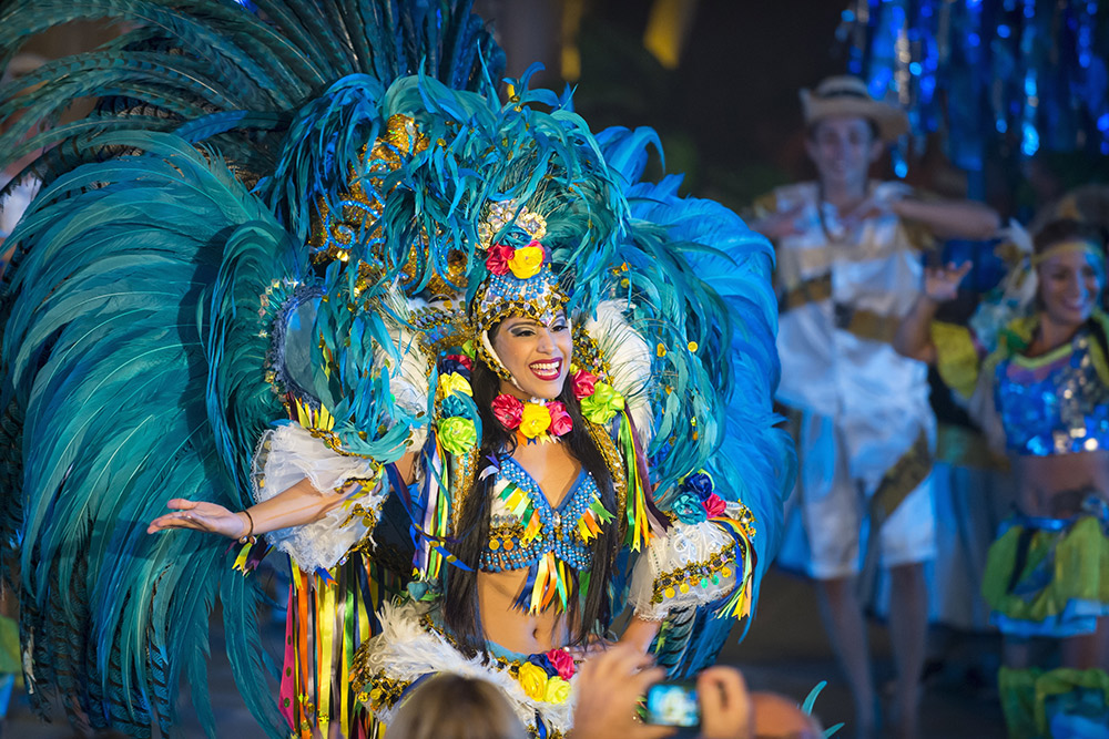 Carnaval performers start preparing for the show a year in advance. Photo courtesy Roman Stetsyk, Dreamstime.