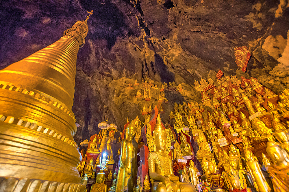 Just some of the 8,000+ Buddhas at Pindaya Caves.