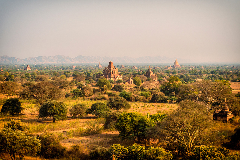 Myanmar's iconic, ancient city, Bagan.