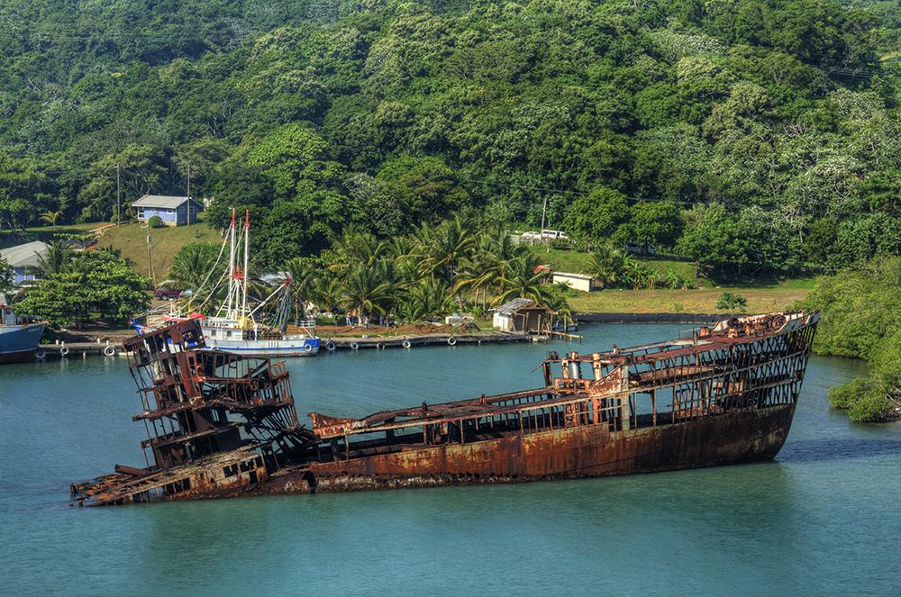 One of Roatan's many shipwrecks. Photo courtesy of Timothy W.