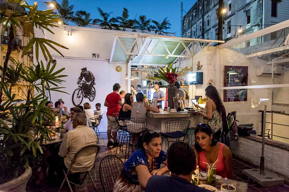 Don't miss the rooftop patio at El Del Frente.