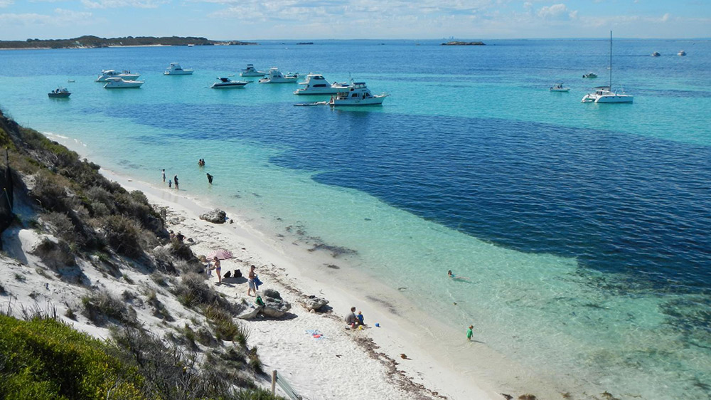 Put the stunning image of Rottnest Island in your memory bank. Photo courtesy Finn P.