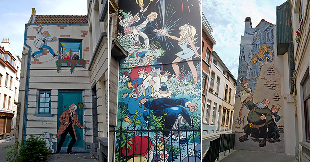 The Comic Trail in Brussels is a feast for the eyes. Photo courtesy of Lin M.