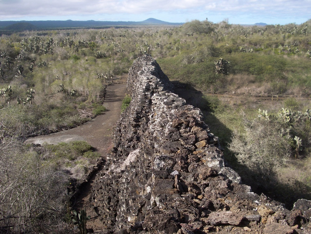 Although the penal colony is gone, remnants of the wall remain today. Photo courtesy Ivar A.