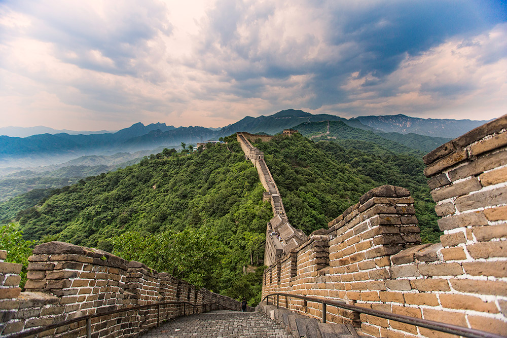 The object of my journey, the Great Wall of China.
