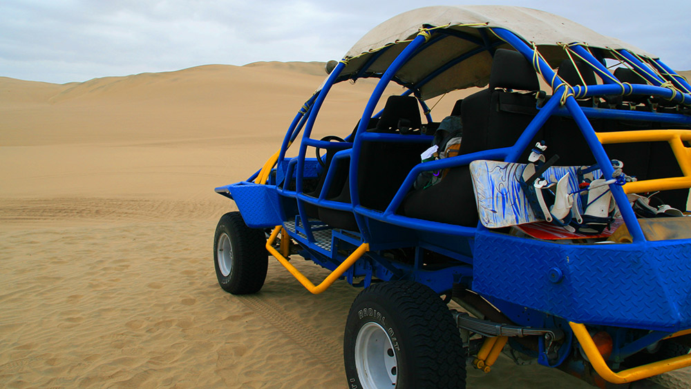 Zip through the cascading dune in a buggy. Photo courtesy Dan A.