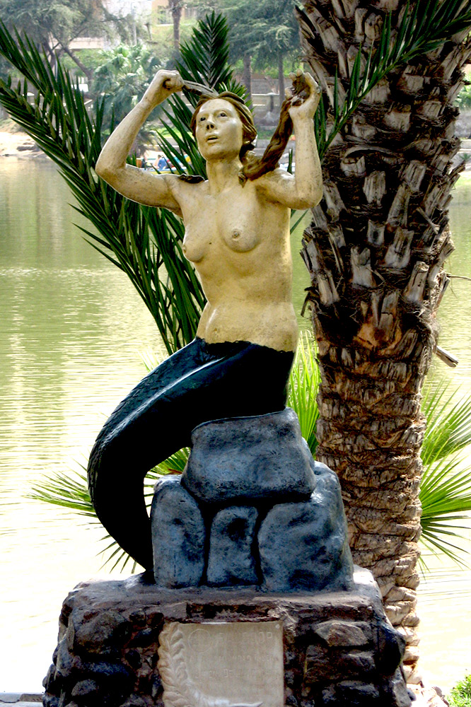 This mermaid is said to protect the waters of the lagoon. Photo courtesy Katie B.