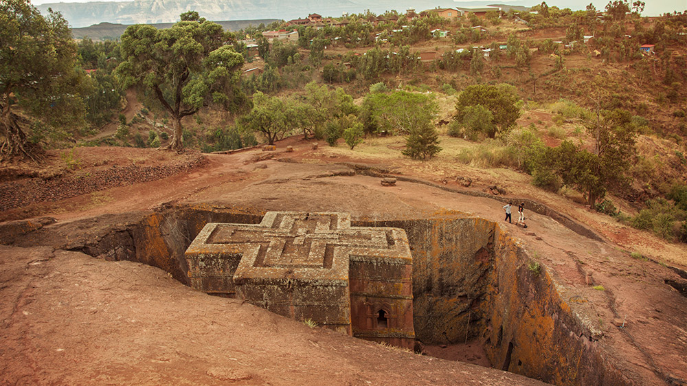 The St George Cathedral in Lalibela.