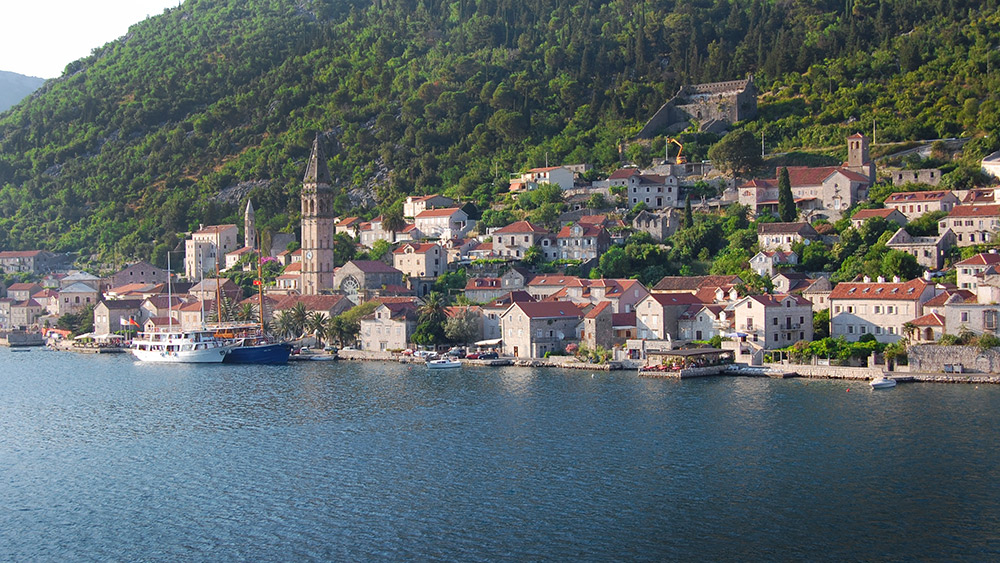 Kotor's setting in between mountains and water makes it almost picture perfect. Photo courtesy Adam R.