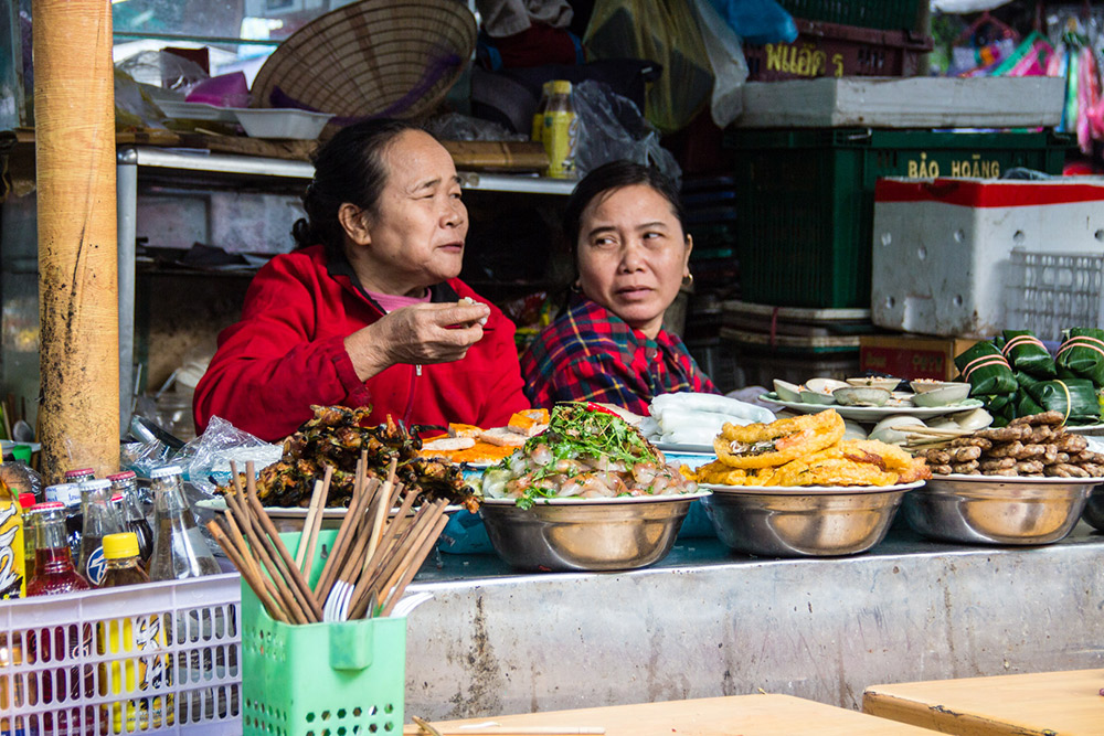 Head to Hue's markets for some of the best eats the city has to offer. Photo courtesy Andrew J.