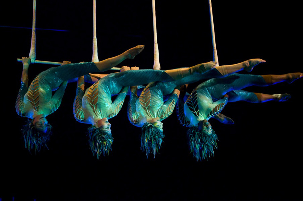 Performers at Cirque du Soleil in Montreal. Photo courtesy of Focka.