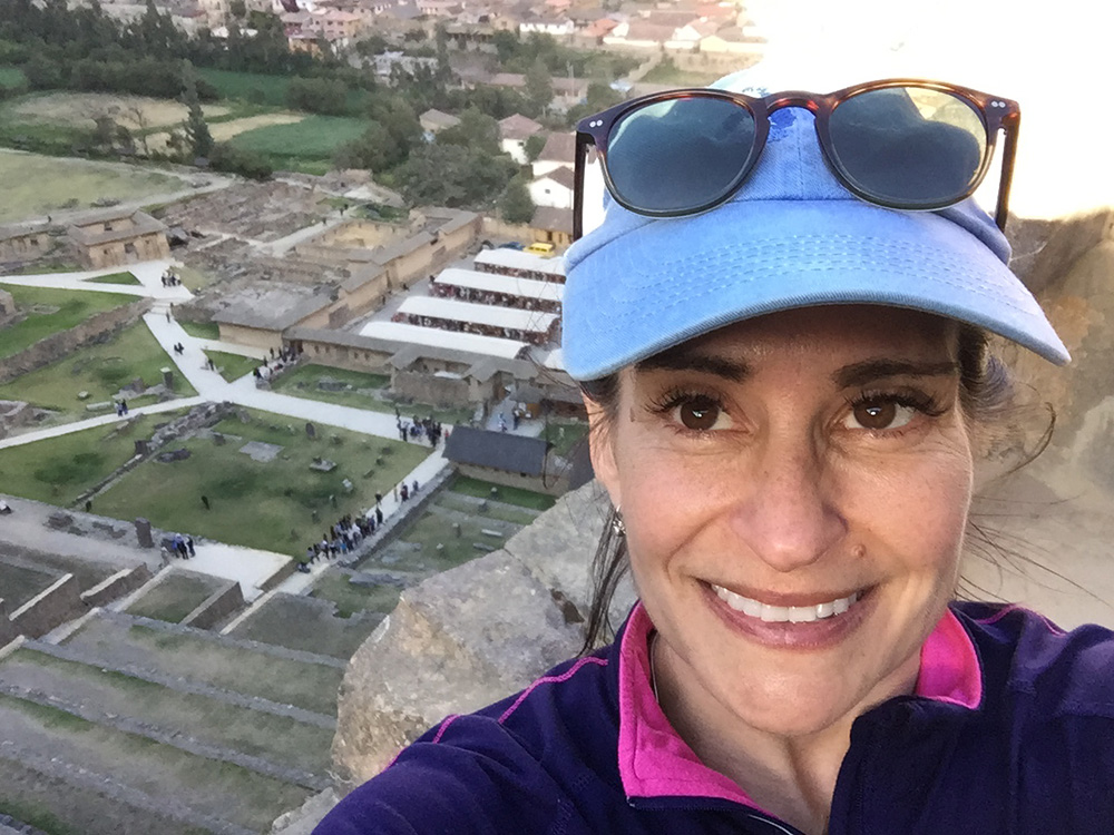 Author Susan McPherson during her G Adventures trip to Peru.