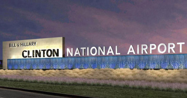 arkansas names airport after bill and hillary clinton