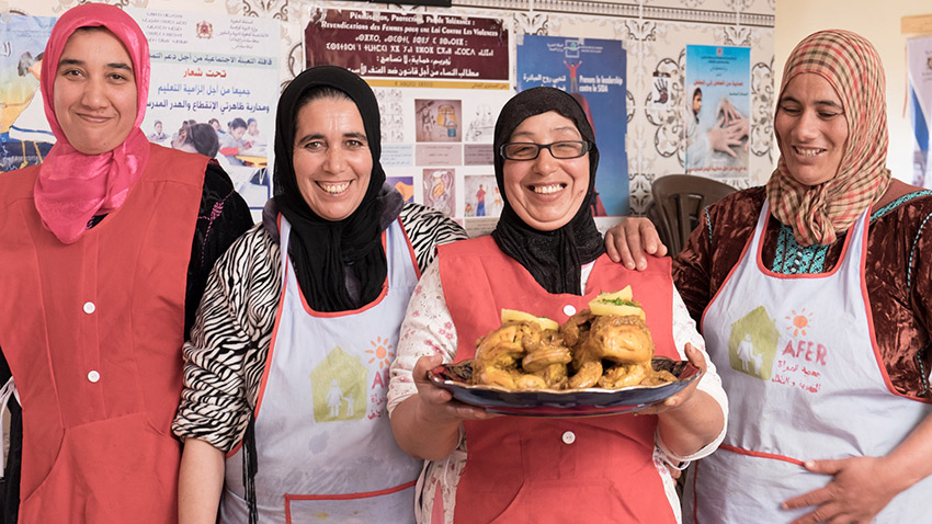 The Morocco Community Lunch initiative is a lunch-and-learn session with a twist.