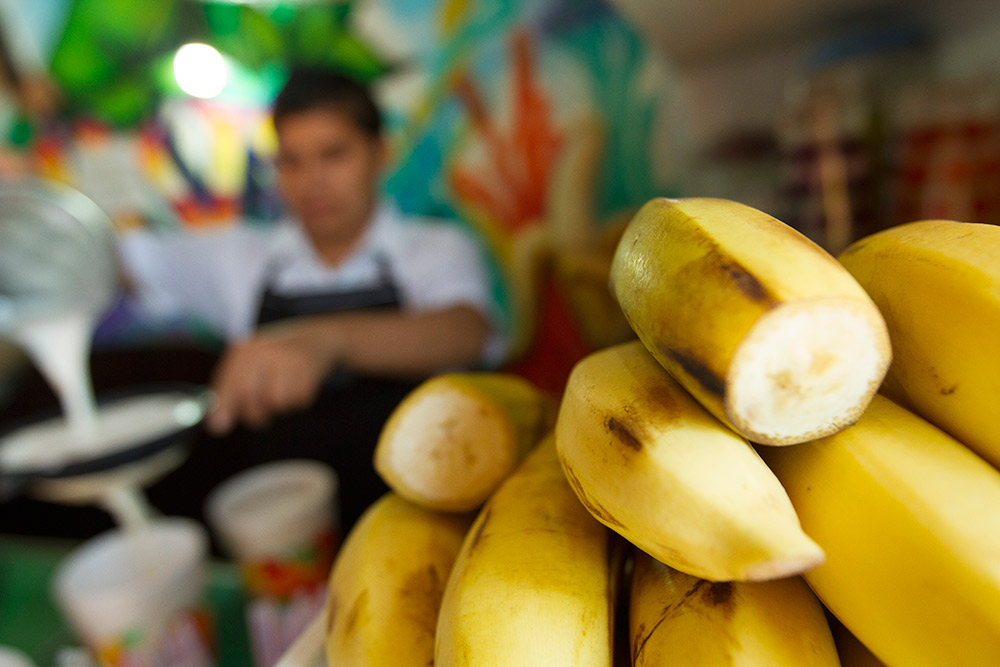 Bananas are a great source of carbohydrates when you're on the go.