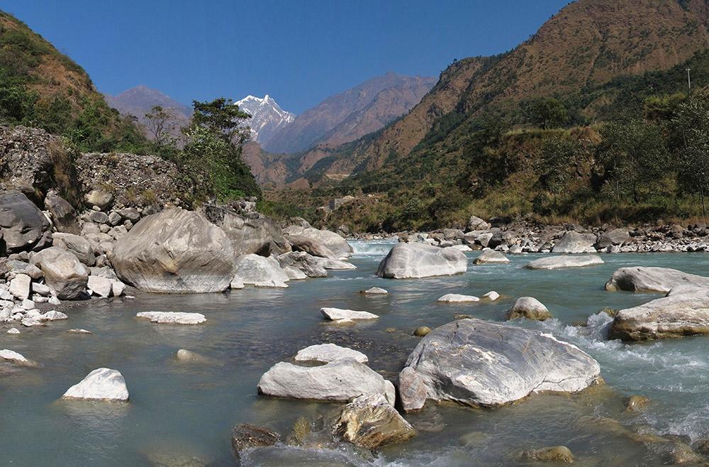 The Kali Ghandaki river in the Annapurna mountains.