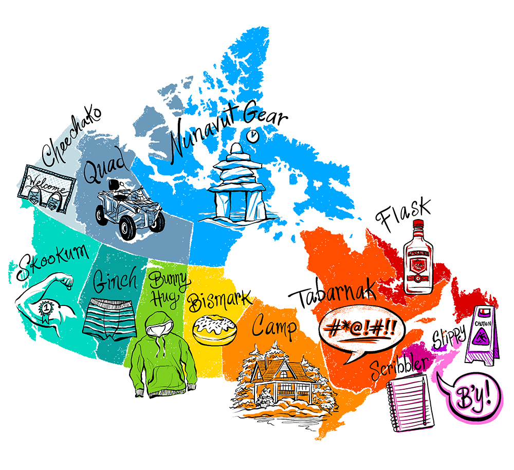 Regional Map Of Canada.An Illustrated Guide To Regional Canadian Slang G Adventures