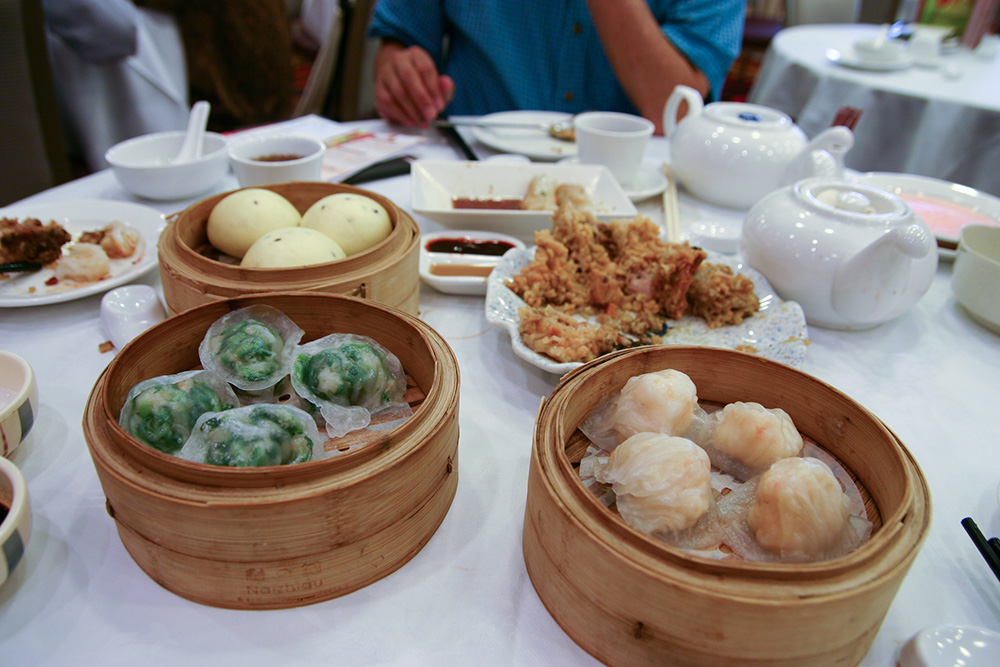 Dim sum in Hong Kong.