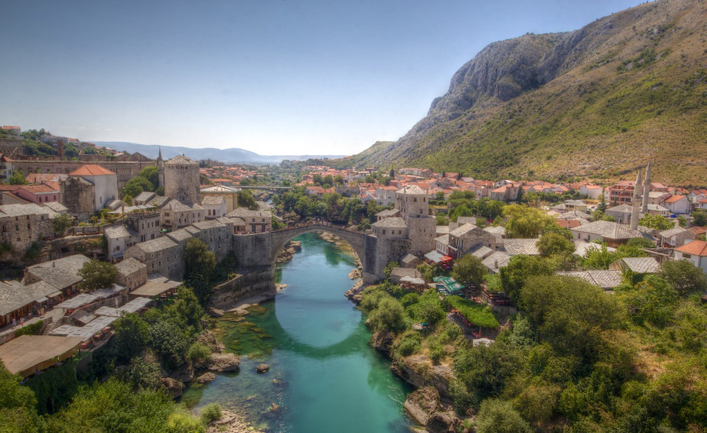 Today's Mostar is shining once again.