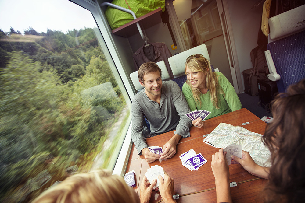 Rail travel allows you to stretch out, make friends, and enjoy the ride.