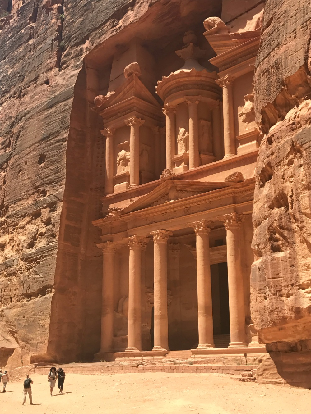 Petra is one of the many stunning landmarks in Jordan drawing tourists in from around the world.