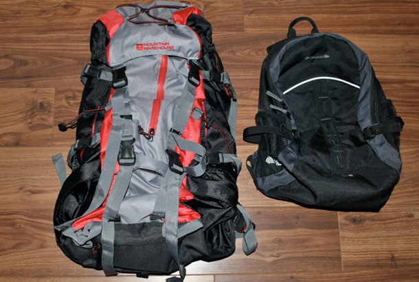 Backpacks for our around the world adventure
