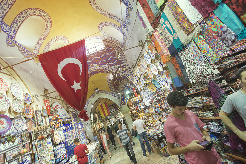 A Turkish bazaar.