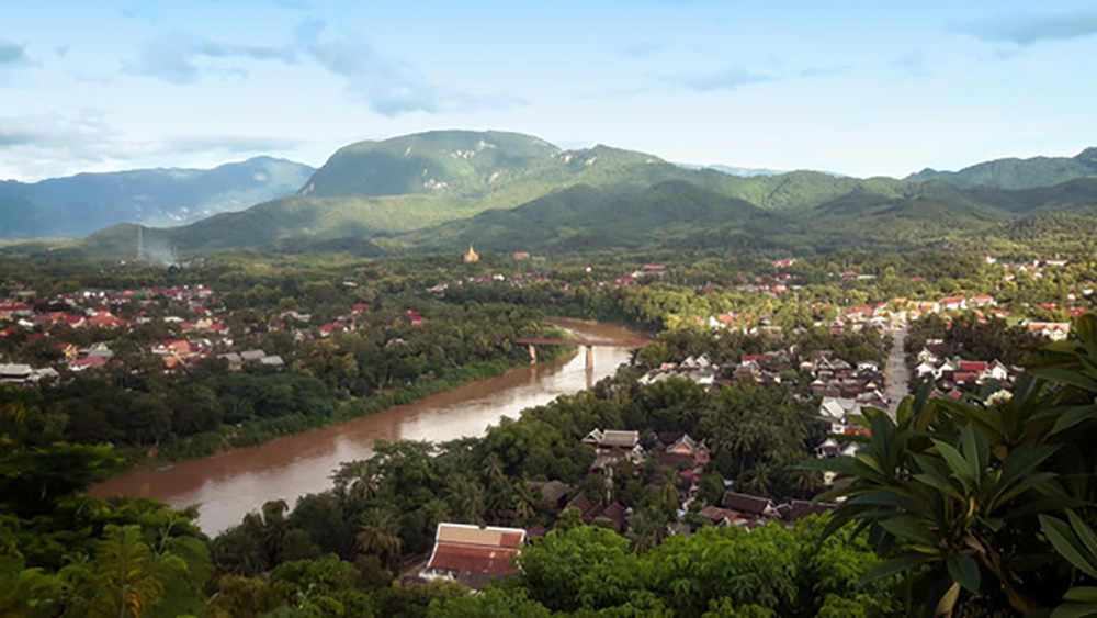 Laos' winding Nam Khan River.