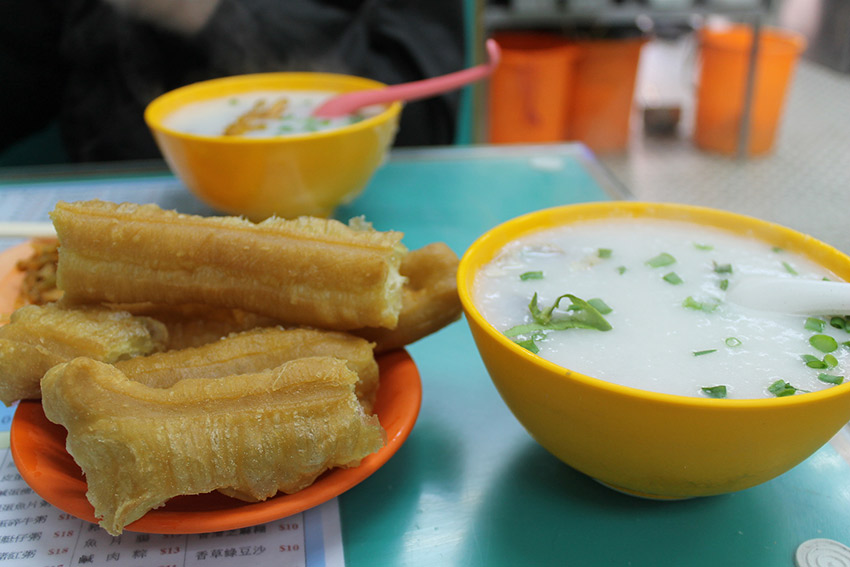 Hong Kong congee generally consists of such savoury flavours as fish or chicken. Photo courtesy Connie M.
