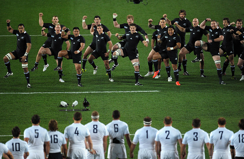 The All Blacks performing the haka. Photo courtesy J Chou.