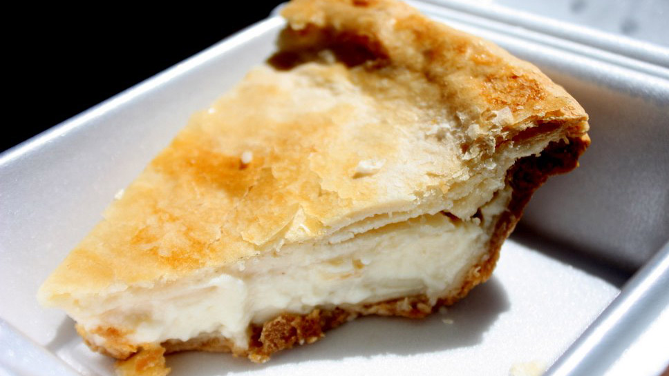 Buko pie is made of coconut and condensed milk. Photo courtesy Krista.