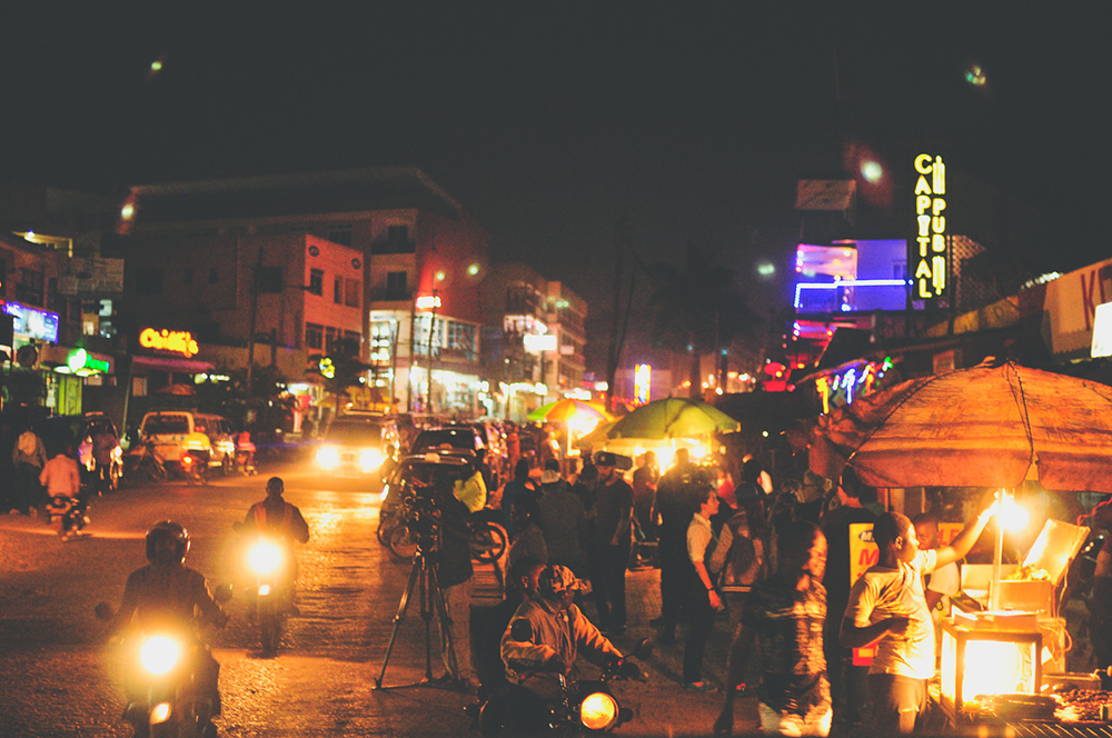 Kampala comes alive at night. Photo courtesy of rory m.