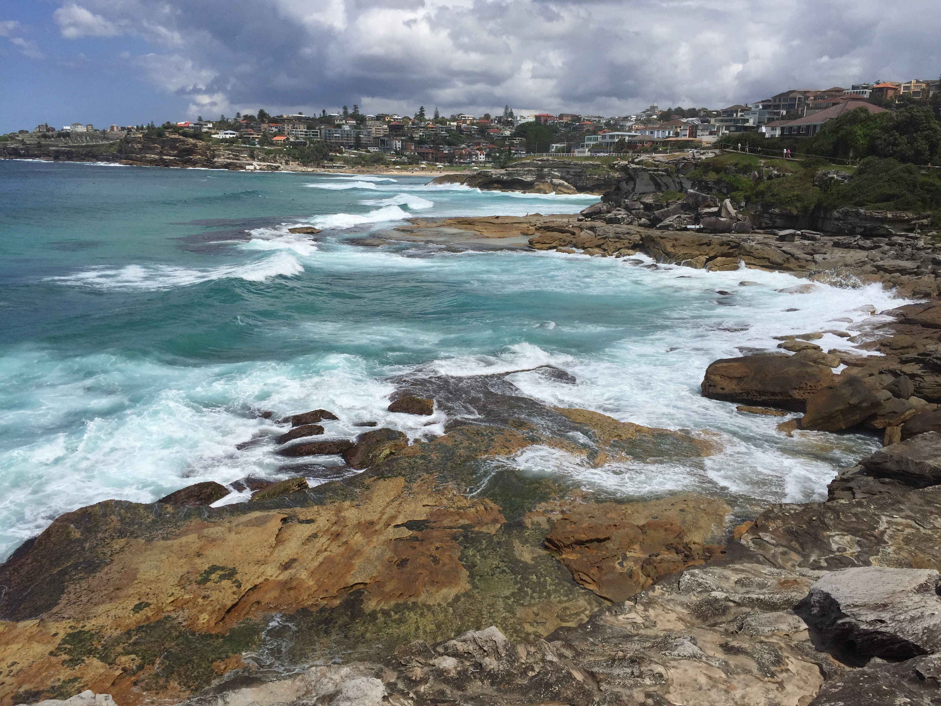 Beautiful views just outside of Bondi Beach, just a short ride from central Sydney.