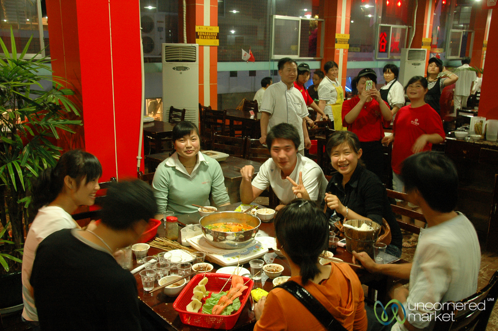 "Another ""it takes a village"" hot pot experience in Kaili, Guizhou."