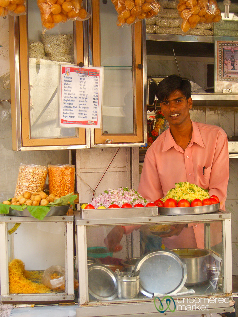 Mumbai revels in snack culture; street food stalls are everywhere.