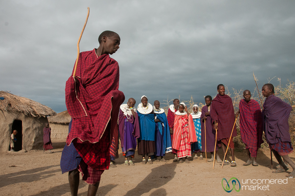 "The ""adamu"" is demonstrated on a visit to a Maasai village in northern Tanzania."