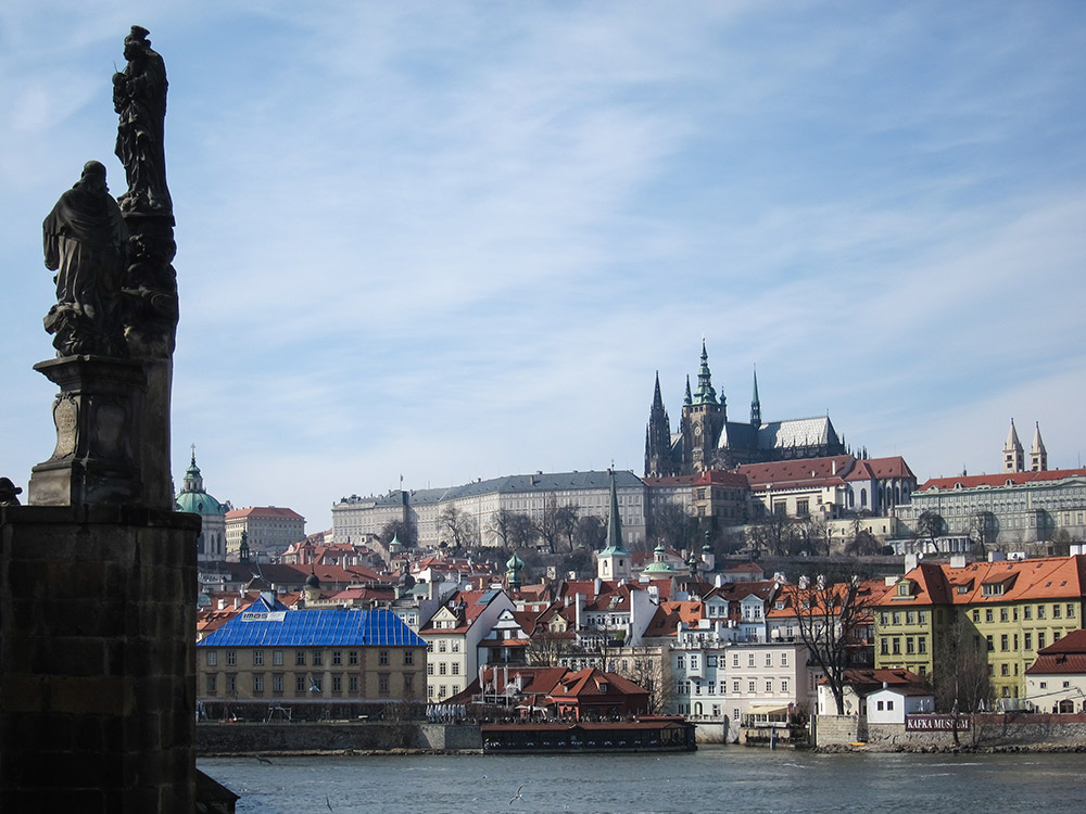 From the Charles Bridge, Prague Castle in the distance.