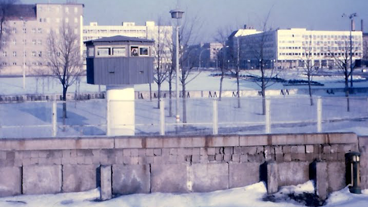 Watchtowers and border guards were a constant in the lives of both East and West Berliners. Photo taken by the author's father during a visit in 1969.