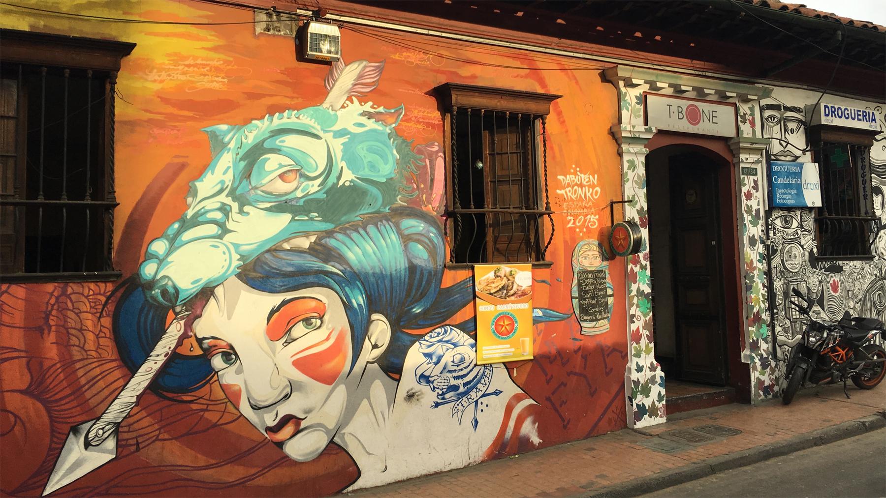 Dabuten Tronko's murals often feature strong characterizations of women.