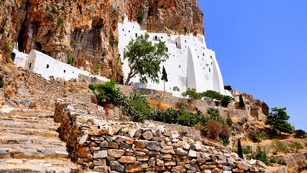 Come to Amorgos for the Monastery of Hozoviotissa. Photo courtesy Henrik B.